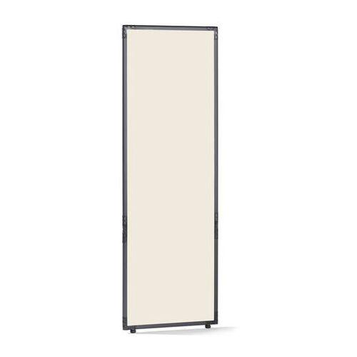 Ścianka działowa, tworzywo sztuczne, rama w kolorze szarym łupkowym, perłowo-bia marki Clipper system srl