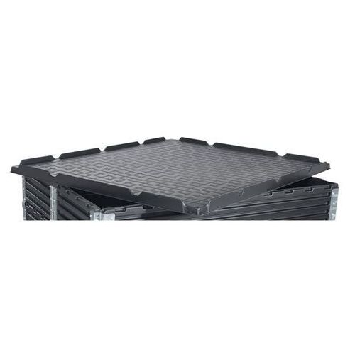 Pokrywa z recyrkulowanego tworzywa abs, do dł. x szer. 1200x1000 mm, czarny. z r marki Kiga kunststofftechnik