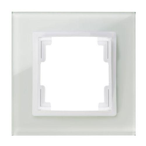 Elektroplast Ramka pojedyncza elektro-plast volante szklana biała