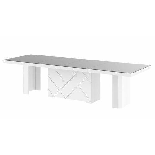 Stół KOLOS MAX 180-468 Szaro-biały mat, HS-0246