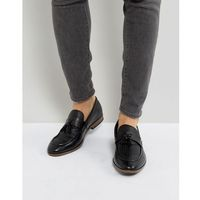woven loafer with tassels in black - black, River island