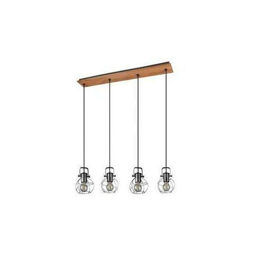 Trio Madras 305300488 lampa wisząca zwis 4x28W E27 brązowy / czarny