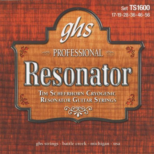Ghs professional - tim seerhorn signature. resonator string set,.017-.056