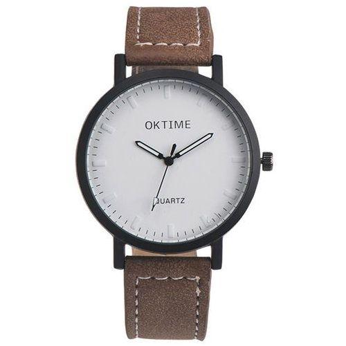 Zegarek duża tarcza brązowy - brown marki Oktime