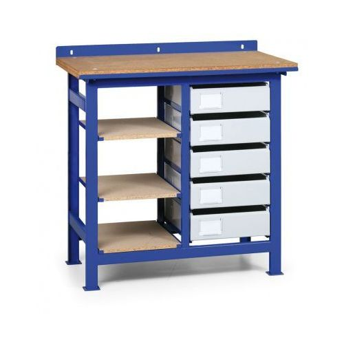 Stół warsztatowy z metalowymi szufladami i półkami marki B2b partner