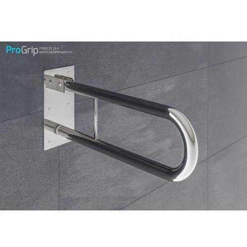 Poręcz ścienna uchylna stal nierdzewna połysk Ø 32 mm, długość 600 mm