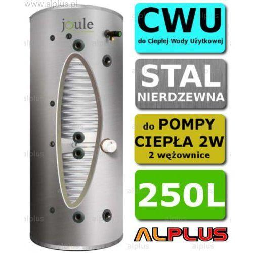 JOULE CYCLONE do pompy ciepła 250L 2W 2-wężownice nierdzewka wymiennik bojler podgrzewacz CWU Wysyłka GRATIS!, TCPMVG-0250LFC
