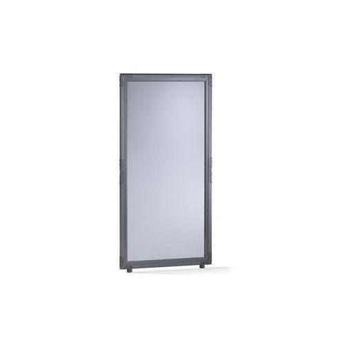 Ścianka działowa, szkło akrylowe, kolory przydymione, wys. x szer. 1300x650 mm,
