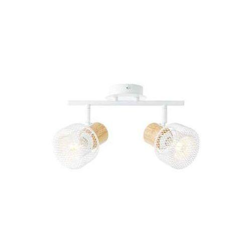gabby 86213/75 plafon lampa sufitowa 2x28w e14 biały/drewno marki Brilliant