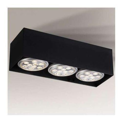 Shilo Sufitowa lampa natynkowa yatomi 1212/gu10/cz regulowana oprawa metalowa spot czarny (1000000337785)