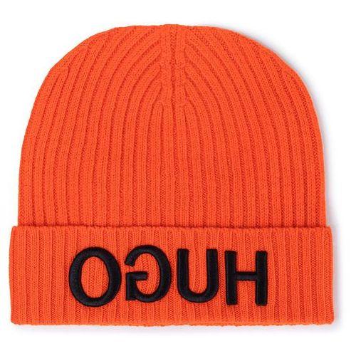 Czapka HUGO - Unisex 50415824 821, kolor pomarańczowy