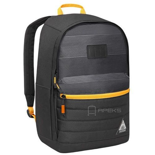 Ogio lewis plecak miejski na laptopa 15'' / szaro - pomarańczowy - lockdown