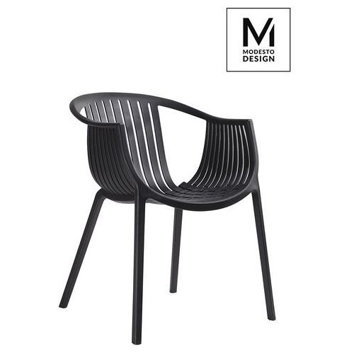 MODESTO krzesło SOHO czarne - polipropylen, PP041.BLACK (10238694)