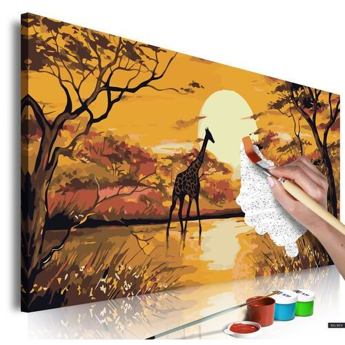Selsey obraz do samodzielnego malowania żyrafa o zachodzie słońca (5903025213323)