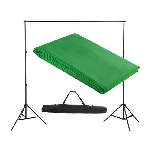 Vidaxl  system zawieszenia tła z zielonym tłem 300 x cm.