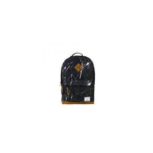 Plecak dwukomorowy czarny Marmur (5902921986614)