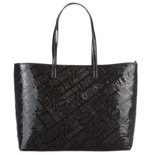 Love moschino metallic embossed torba na zakupy nero (8054653952409)