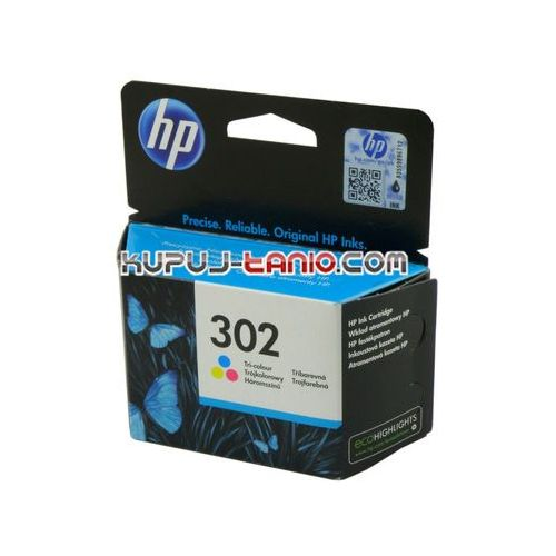 HP 302 Color oryginalny tusz do HP Deskjet 3630, HP Deskjet 2130, HP Envy 4520, HP Officejet 3830, HP Officejet 4650, HP Deskjet 3632, F6U65AE