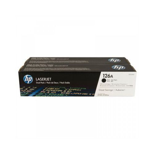 Tonery Oryginalne HP 126A (CE310AD) (Czarne) (dwupak) - DARMOWA DOSTAWA w 24h