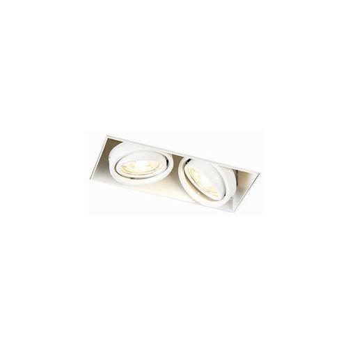 Nowoczesna oprawa do wbudowania biała gu10 - oneon 2 trimless marki Qazqa