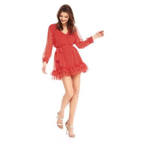 Sukienka Scilla czerwona w groszki