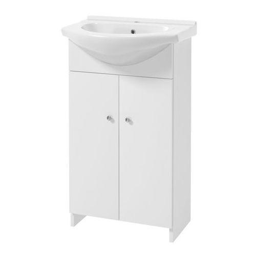 Zestaw szafka z umywalką tik bez cokołu 50 cm biały marki Deftrans