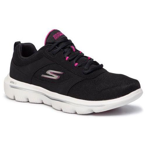 Skechers Buty - go walk evolution ultra-enhance 15734/bkpk black/pink