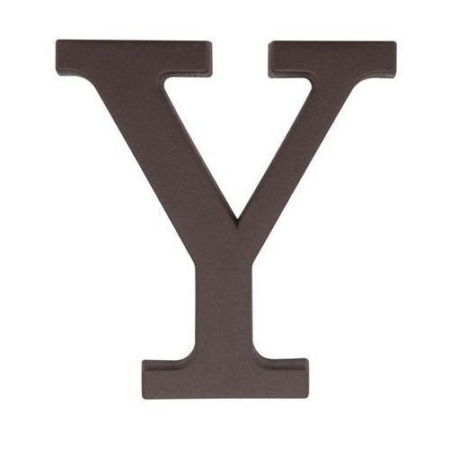 Litera Y wys. 9 cm PVC brązowa (5901912823457)