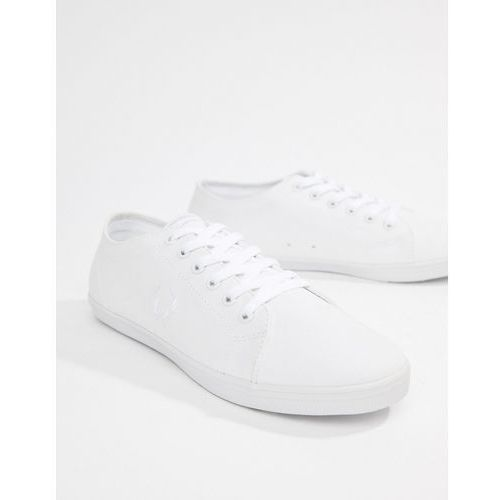 kingston twill plimsolls in white - white, Fred perry