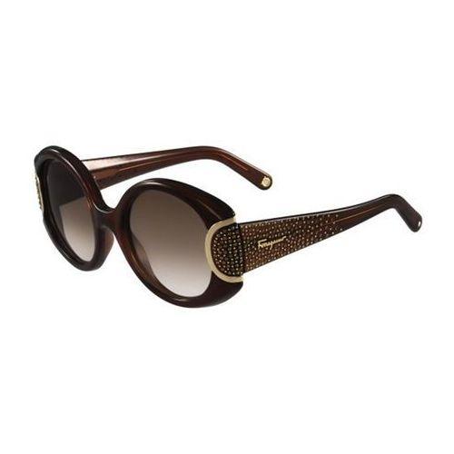 Okulary Słoneczne Salvatore Ferragamo SF 811SR 210, kolor żółty