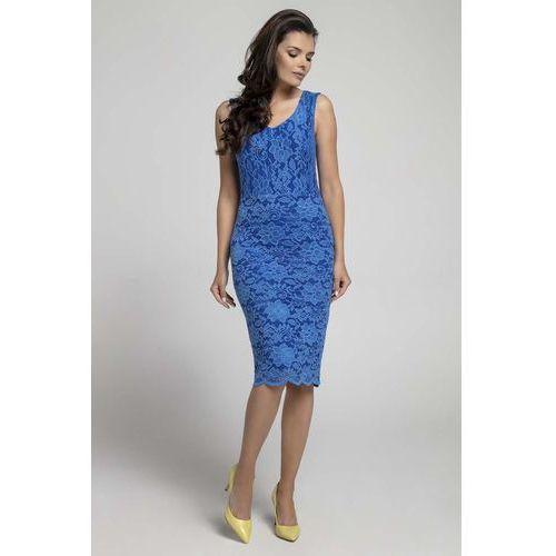 5d3f7b64 Suknie i sukienki Kolor: niebieski, Wzór: koronka, Wzór: moro, ceny ...