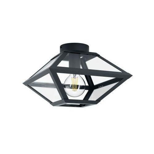 Eglo Casefabre 98355 plafon lampa sufitowa oprawa 1x60W E27 czarna (9002759983550)