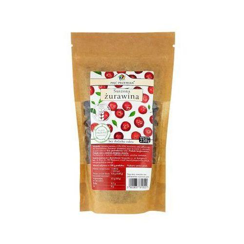 PIĘĆ PRZEMIAN Żurawina suszona słodzona sokiem jabłkowym bez cukru bezglutenowa 250g, 11SIMZURA2