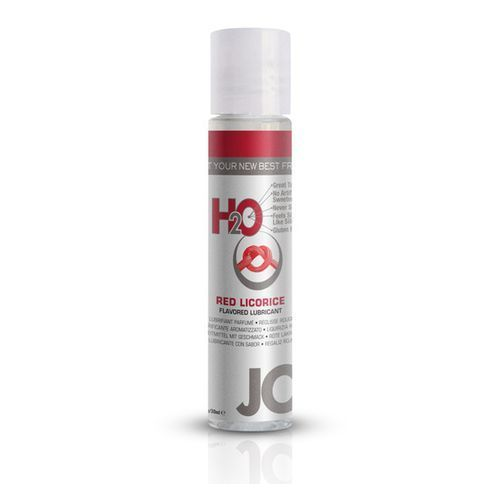 Lubrykant smakowy - System JO H2O Lubricant Red Licorice 30 ml Czerwona LUKRECJA