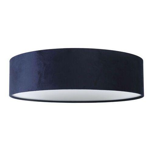 Plafon LAMPA sufitowa ALDONA 3859 Rabalux abażurowa OPRAWA okrągła materiałowa niebieska, kolor niebieski;szary