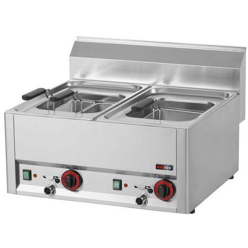 Urządzenie do gotowania makaronu i pierogów elektryczne, nastawne, dwukomorowe, 6 kW, 660x600x290 mm   REDFOX, Linia 600, VT60EL