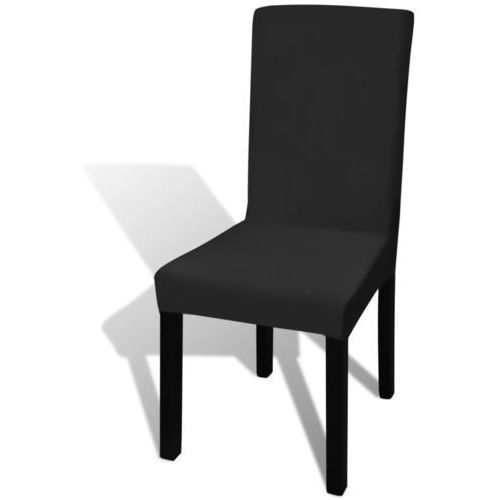 Naciągany pokrowiec na krzesło - czarny - 6 szt., kolor czarny
