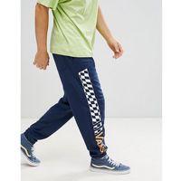 Vans joggers with checkerboard leg in navy vn0a3hkolkz1 - navy