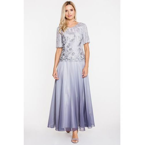Szara suknia balowa z ombre - Potis & Verso, kolor szary