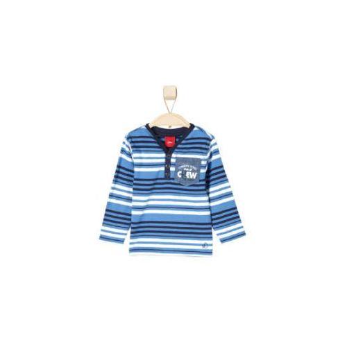 S.oliver boys bluzka z długim rękawem medium blue stripes (4051567960272)