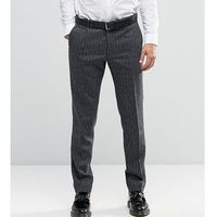 Noak Super Skinny Smart Trousers In Herringbone - Grey, kolor szary