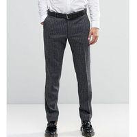 super skinny smart trousers in herringbone - grey, Noak
