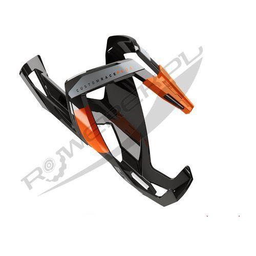 Elite Koszyk na bidon custom race plus czarny-pomarańczowy / wykończenie: połysk (8020775027363)