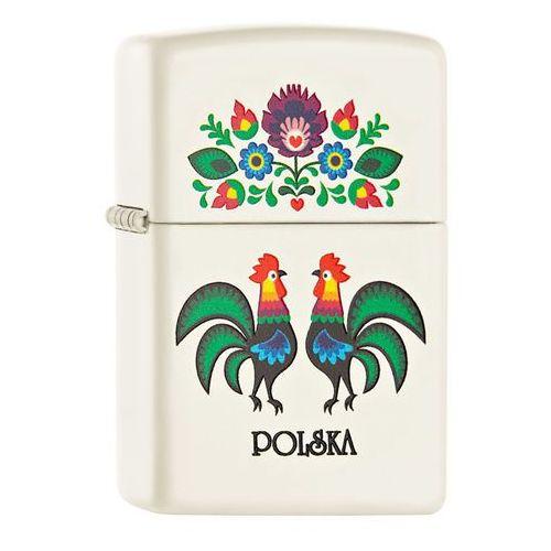 Zapalniczka ZIPPO Folk Rooster, White Matte (60001804), 60001804