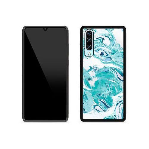 Etuo aluminum fantastic Huawei p30 - etui na telefon aluminum fantastic - niebieski marmur