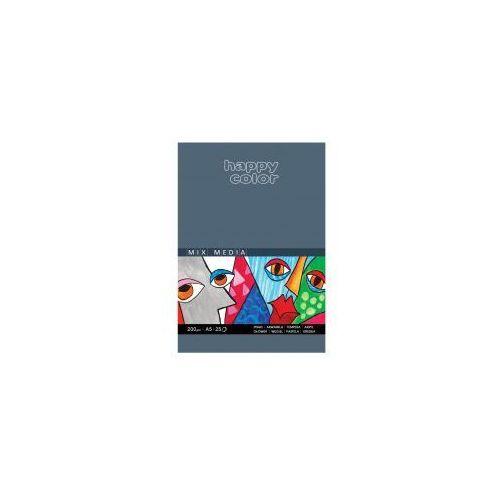 Blok A5 HAPPY COLOR Mix Media 200g 25 kartek