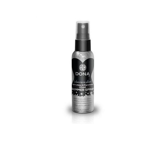 Spray z połyskiem do skóry - Dona Shimmer Spray Silver 60 ml Srebrny