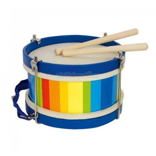 Goki , kolorowy bęben, zabawka drewniana