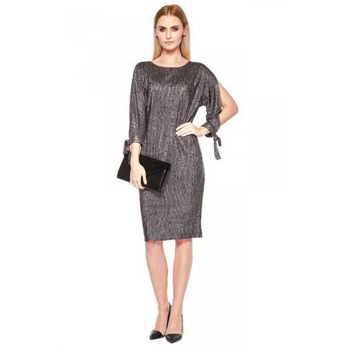Metaliczna sukienka - Vito Vergelis, kolor szary