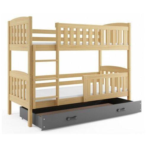 Piętrowe łóżko dla dzieci 90x200 - celinda 3x marki Elior